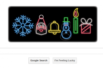 Google chào mừng Noel 2015
